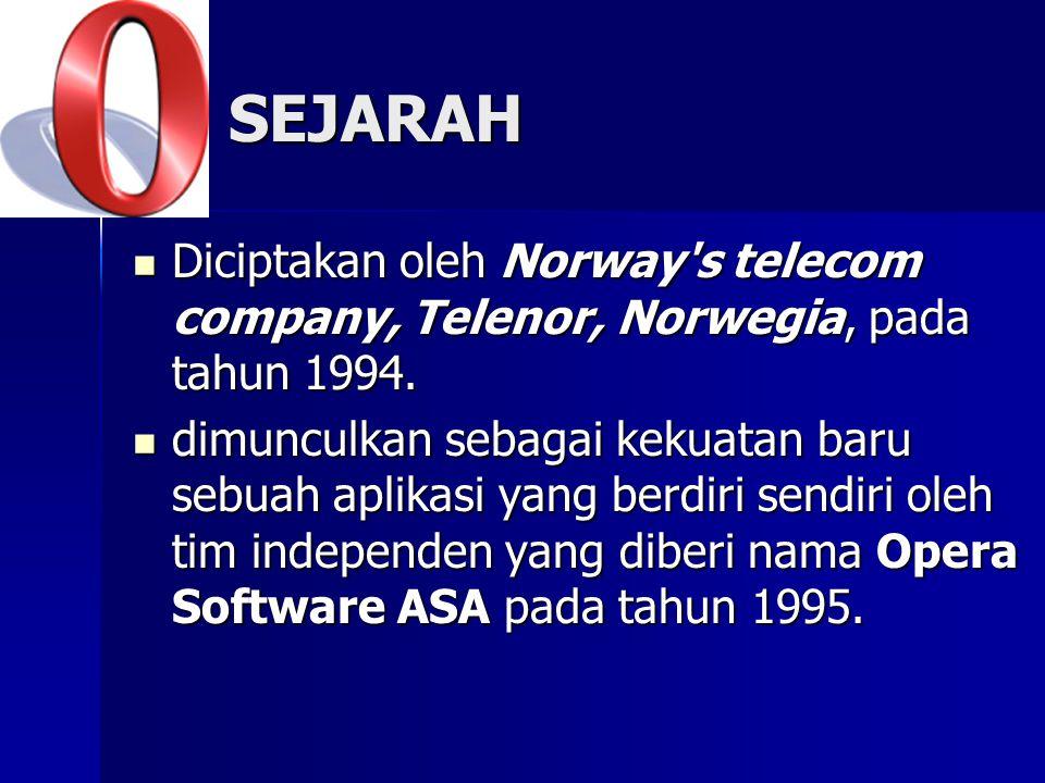 SEJARAH Diciptakan oleh Norway s telecom company, Telenor, Norwegia, pada tahun 1994.