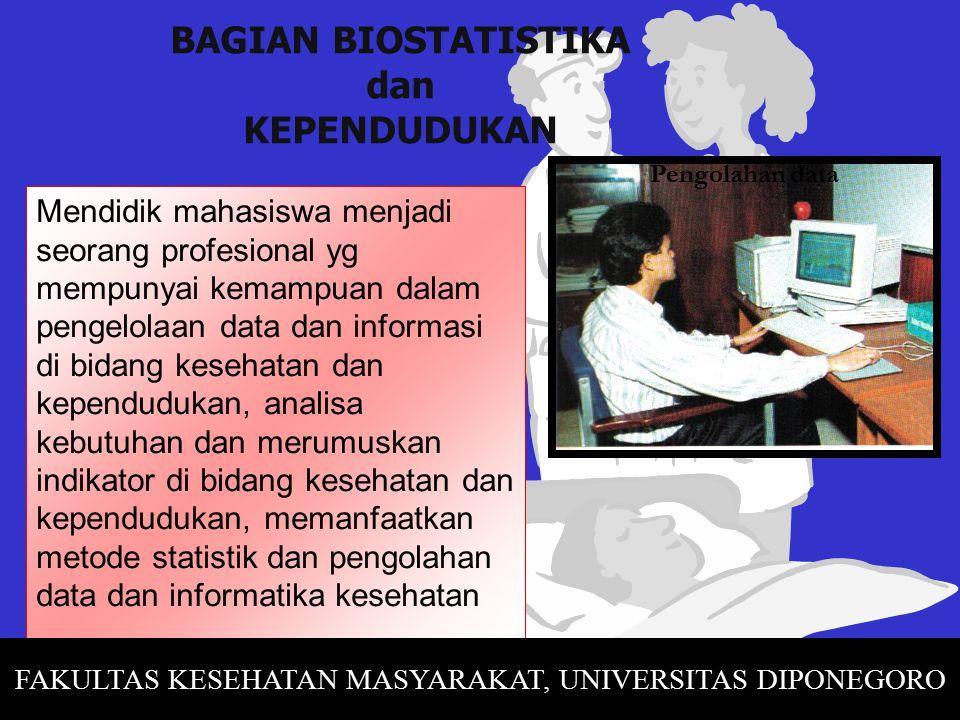 BAGIAN BIOSTATISTIKA dan KEPENDUDUKAN