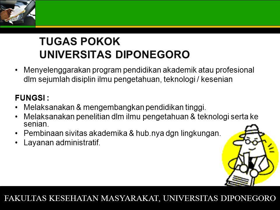 TUGAS POKOK UNIVERSITAS DIPONEGORO