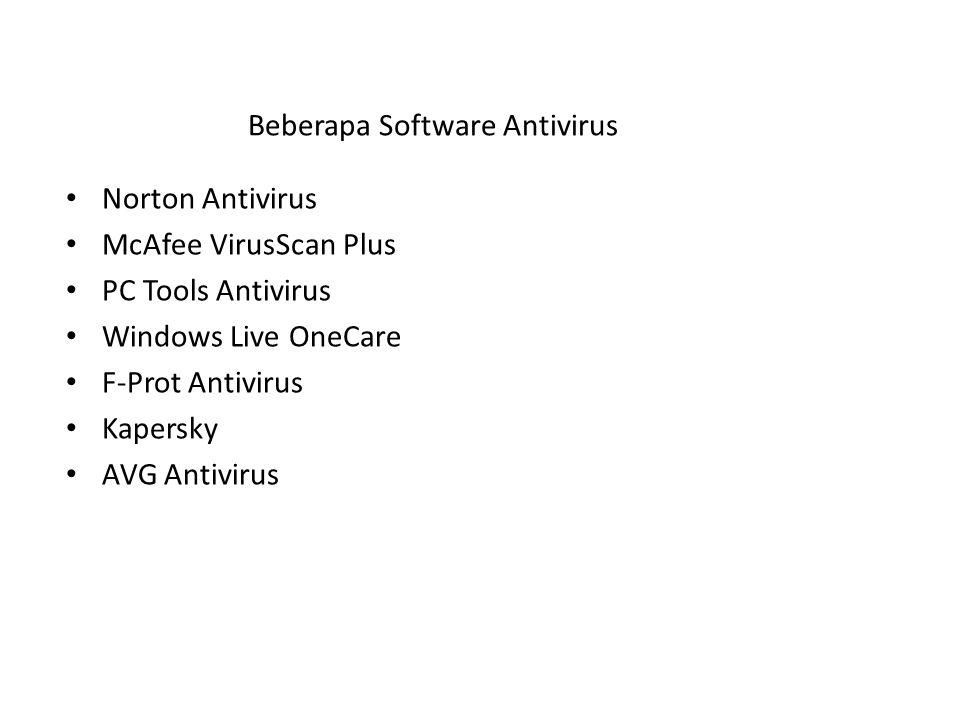 Beberapa Software Antivirus