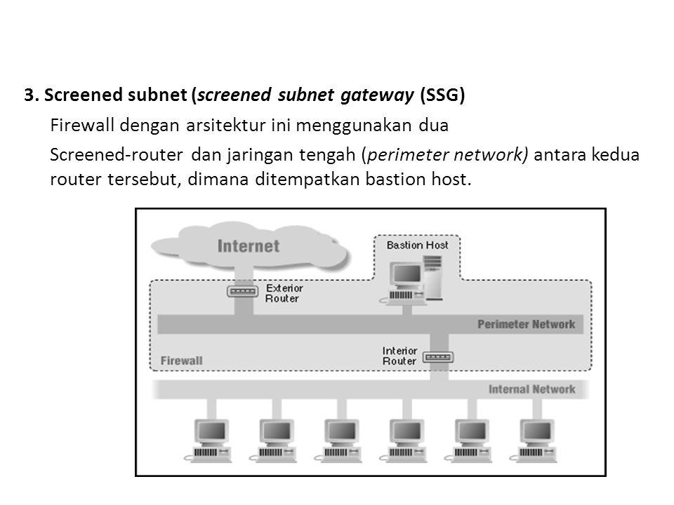 3. Screened subnet (screened subnet gateway (SSG)