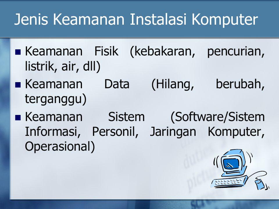 Jenis Keamanan Instalasi Komputer