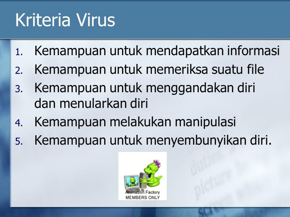 Kriteria Virus Kemampuan untuk mendapatkan informasi