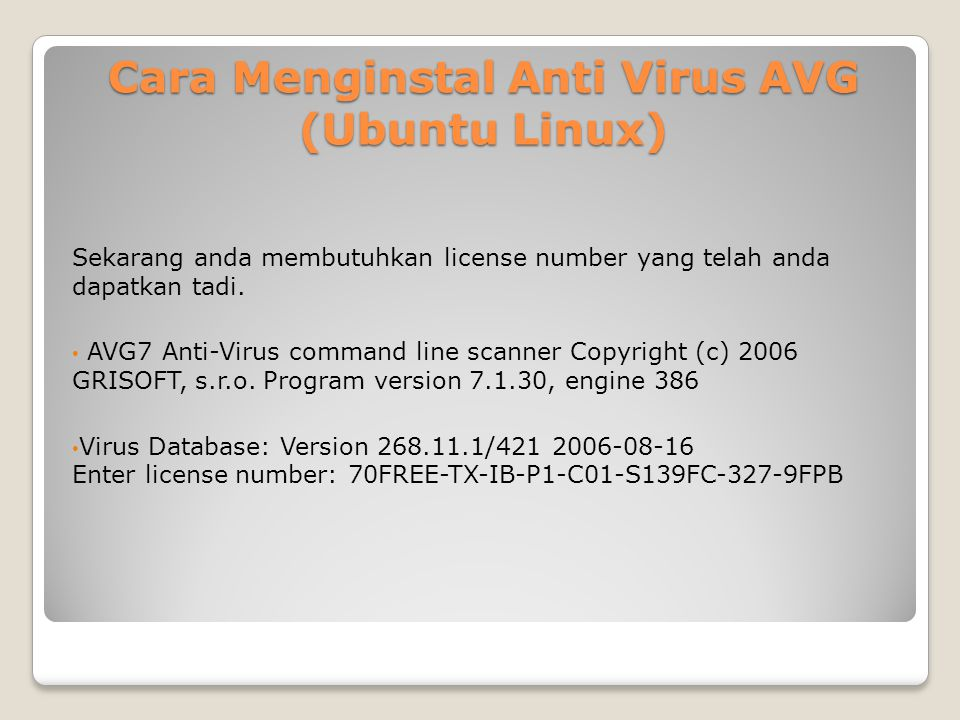 Cara Menginstal Anti Virus AVG (Ubuntu Linux)
