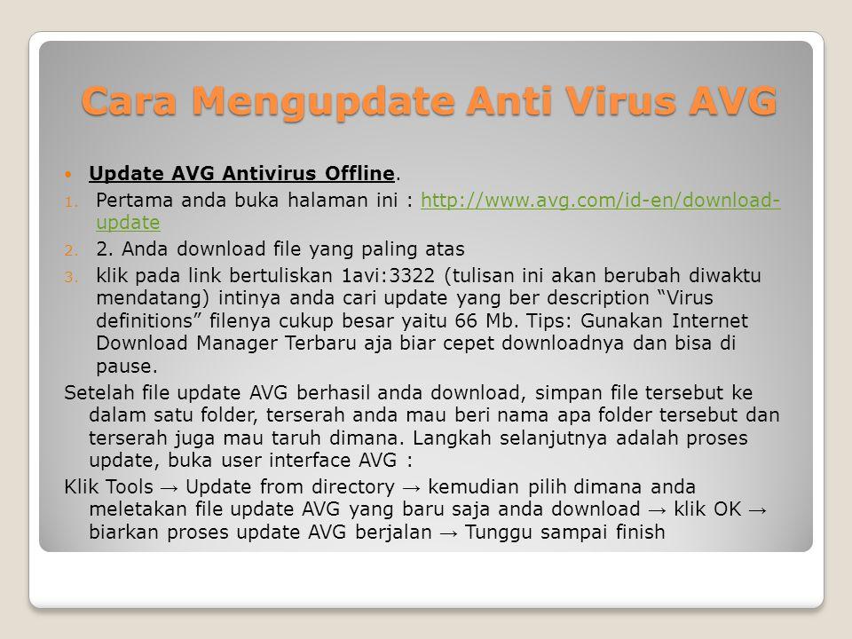 Cara Mengupdate Anti Virus AVG