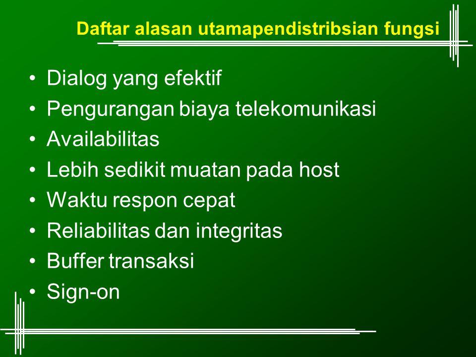 Daftar alasan utamapendistribsian fungsi