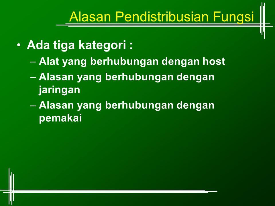 Alasan Pendistribusian Fungsi