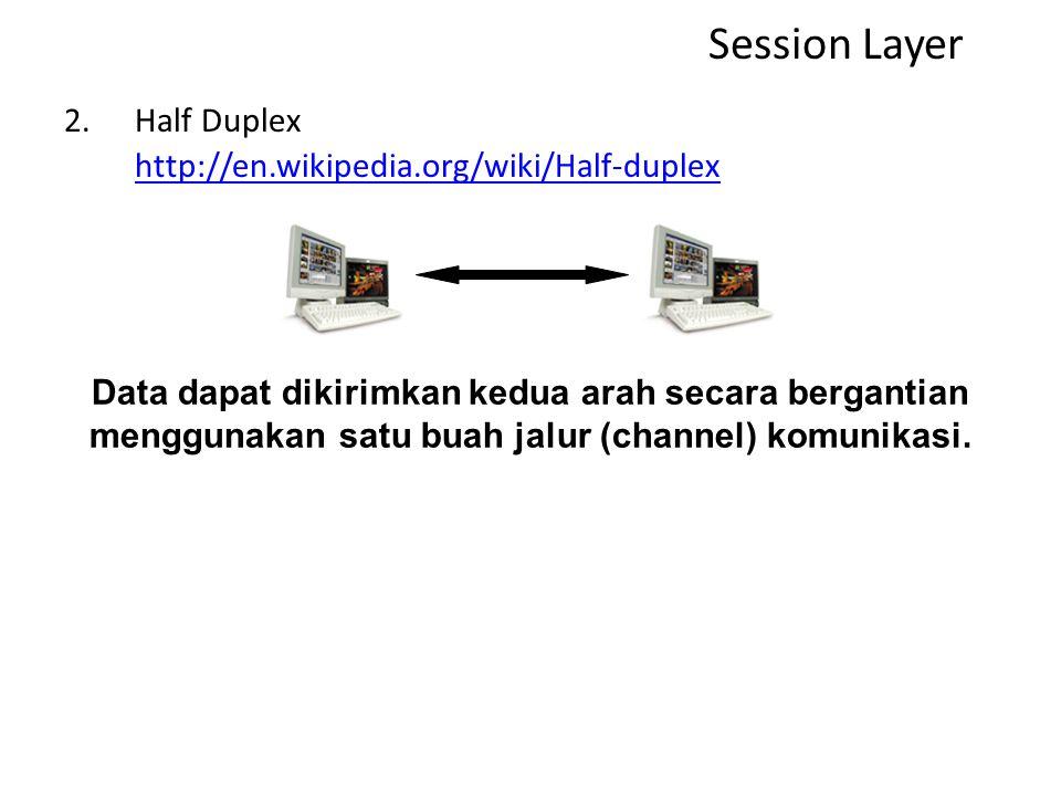 Session Layer Half Duplex http://en.wikipedia.org/wiki/Half-duplex