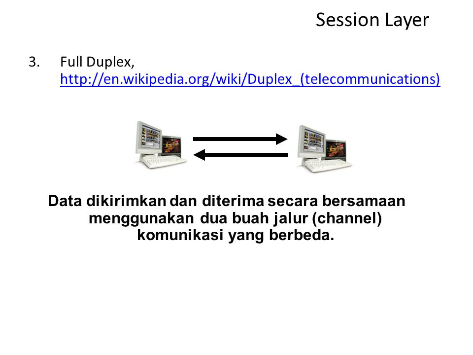 Session Layer Full Duplex, http://en.wikipedia.org/wiki/Duplex_(telecommunications)