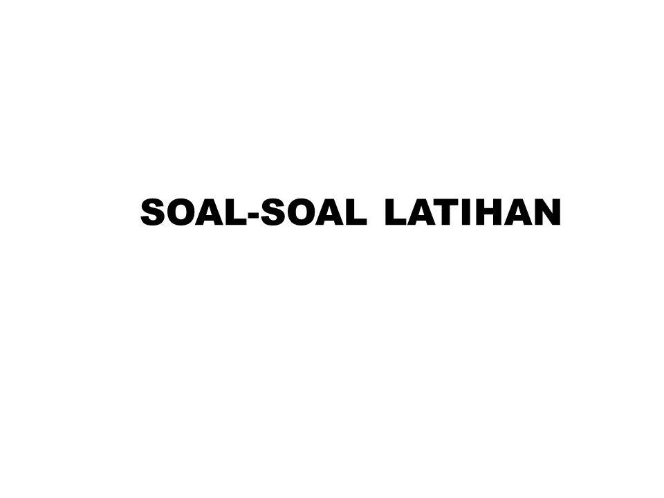 SOAL-SOAL LATIHAN