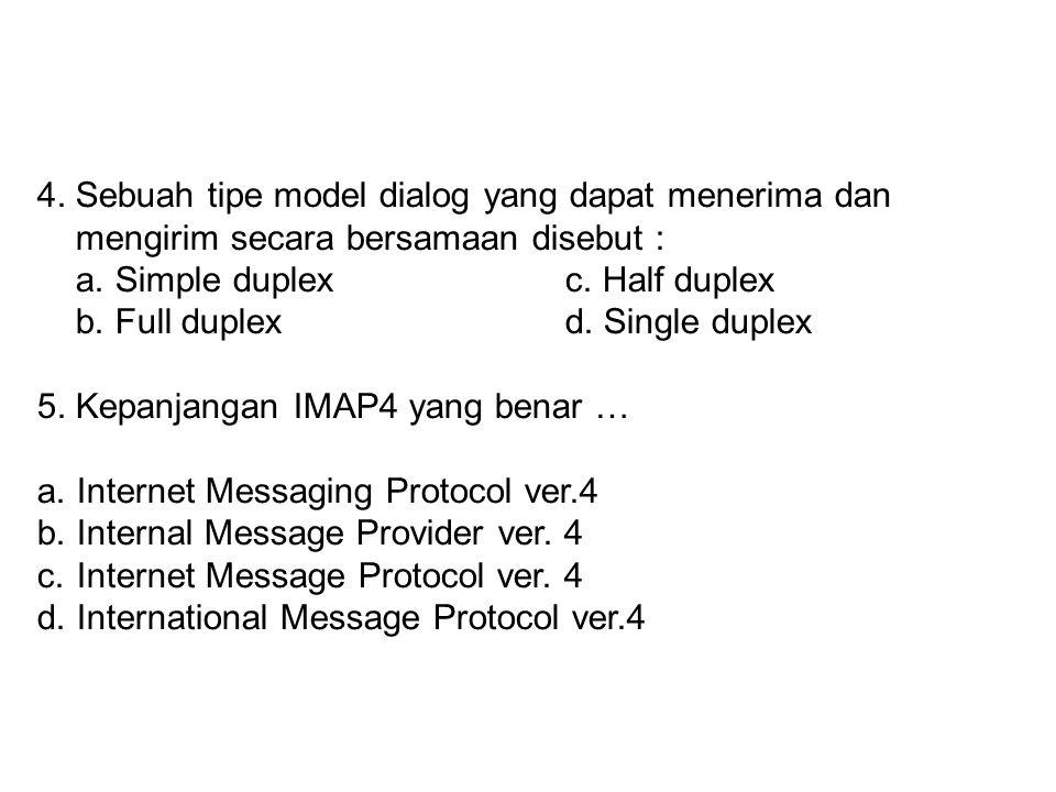 4. Sebuah tipe model dialog yang dapat menerima dan