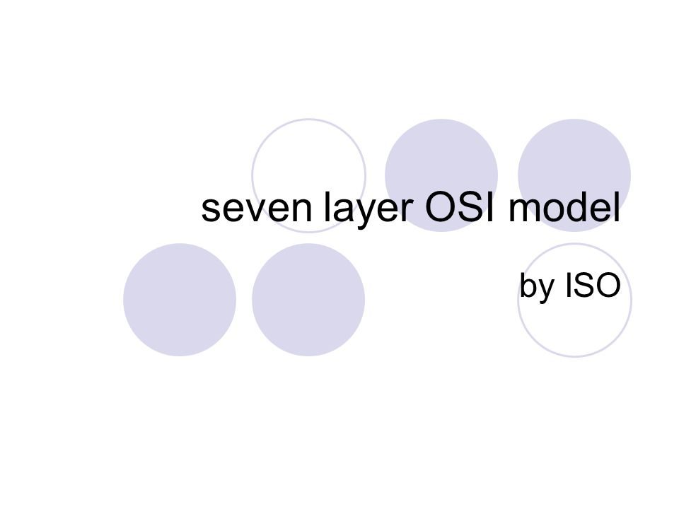 seven layer OSI model by ISO