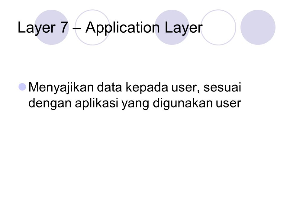 Layer 7 – Application Layer