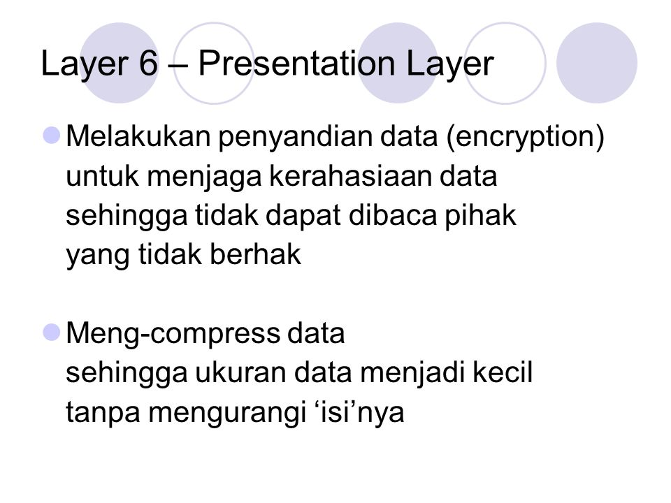 Layer 6 – Presentation Layer