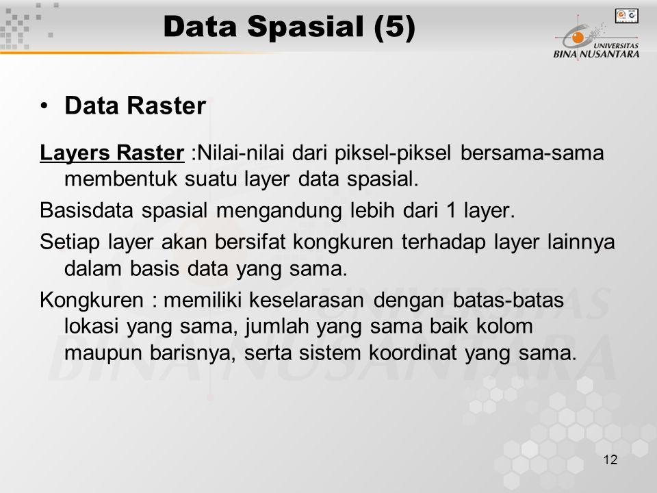 Data Spasial (5) Data Raster