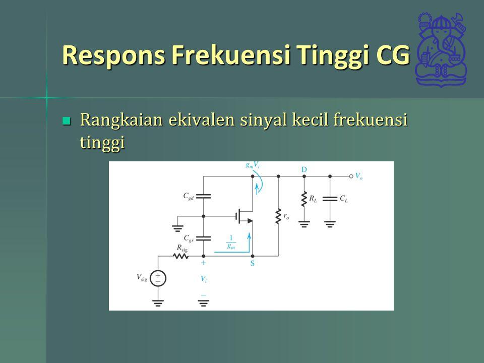 Respons Frekuensi Tinggi CG
