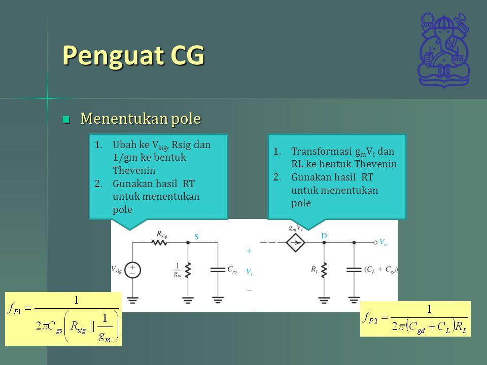 Penguat CG Menentukan pole