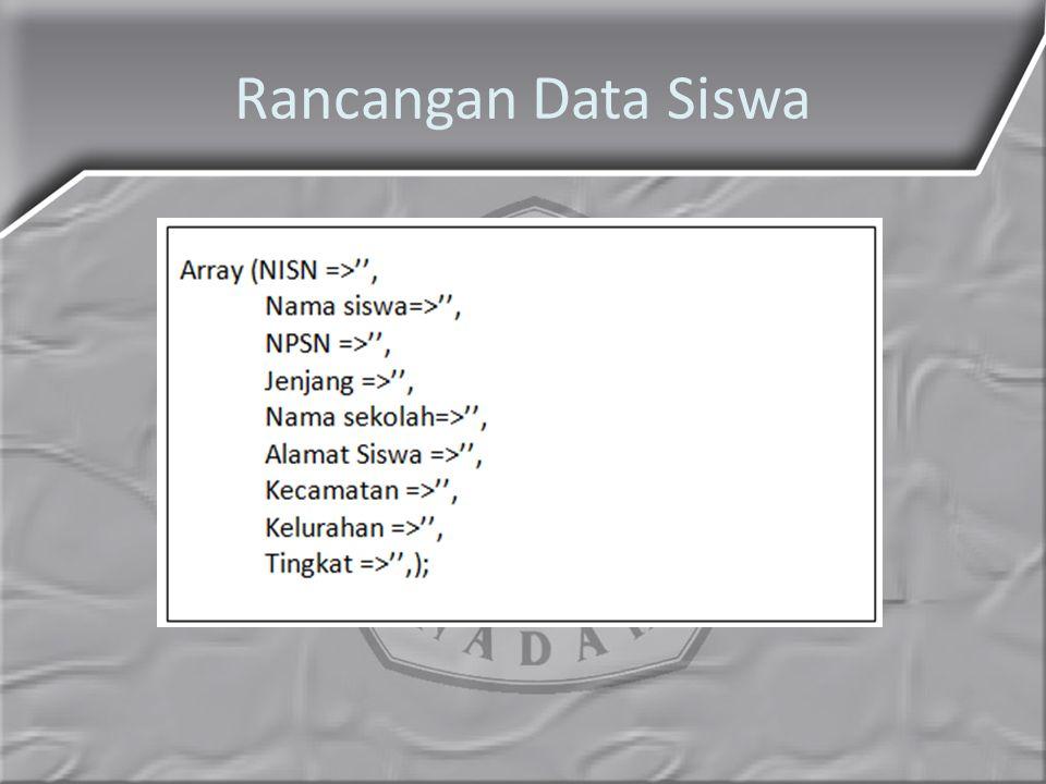 Rancangan Data Siswa