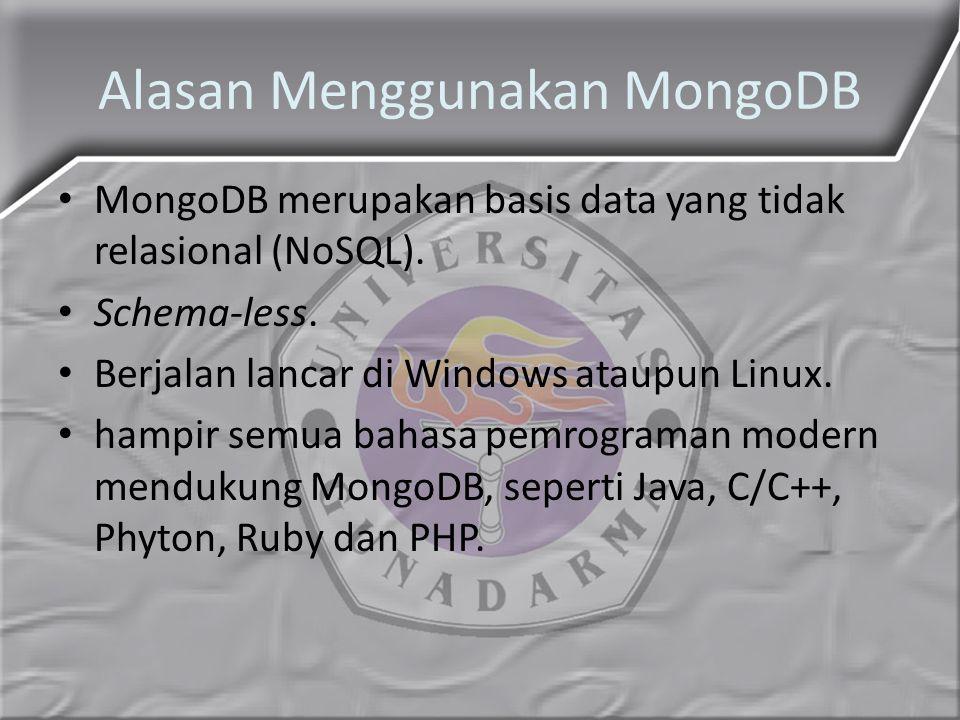 Alasan Menggunakan MongoDB