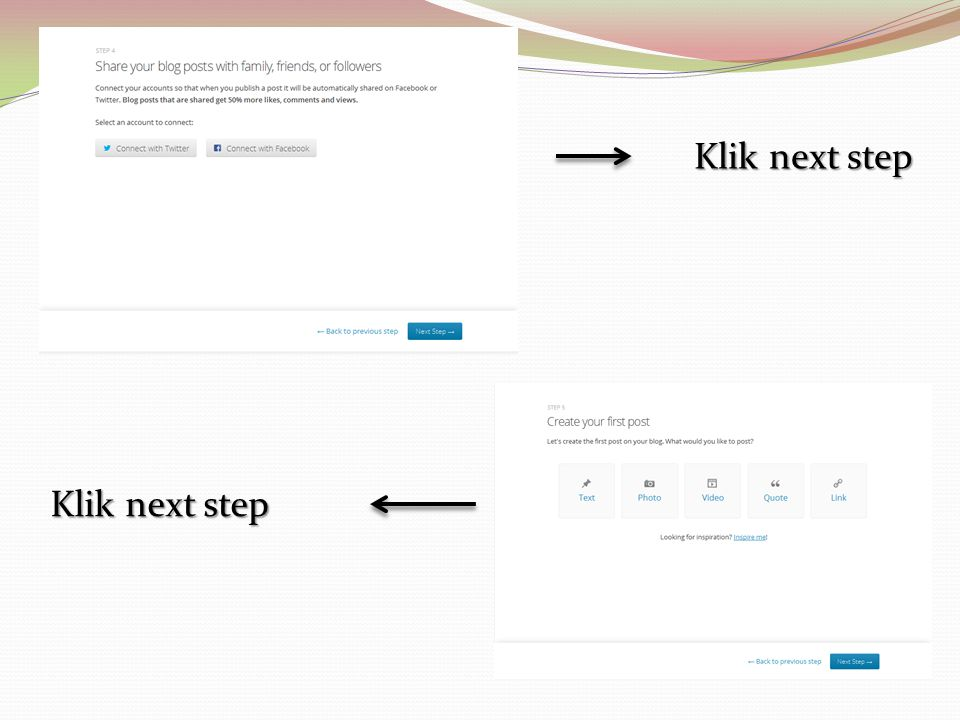 Klik next step Klik next step