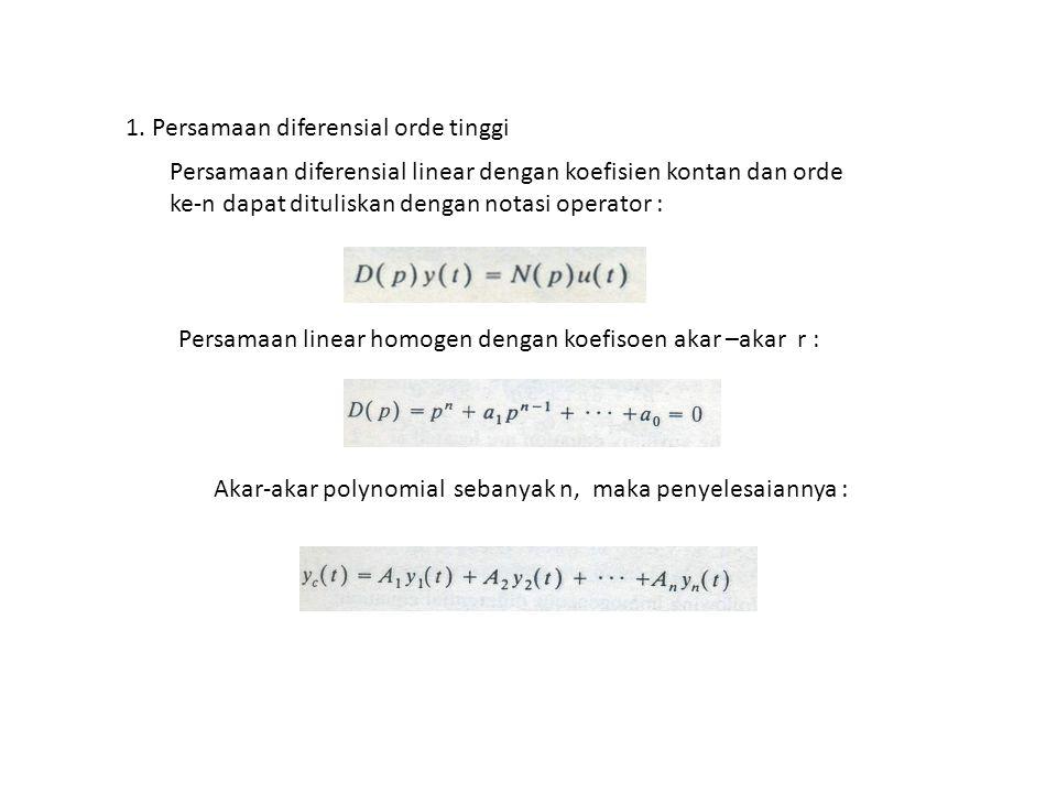 1. Persamaan diferensial orde tinggi