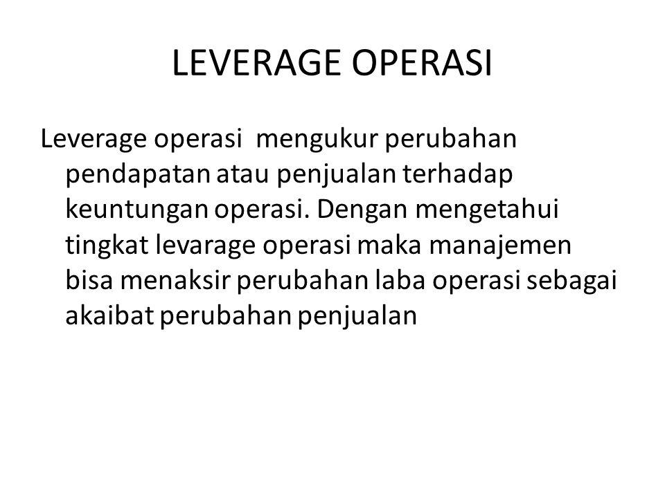 LEVERAGE OPERASI