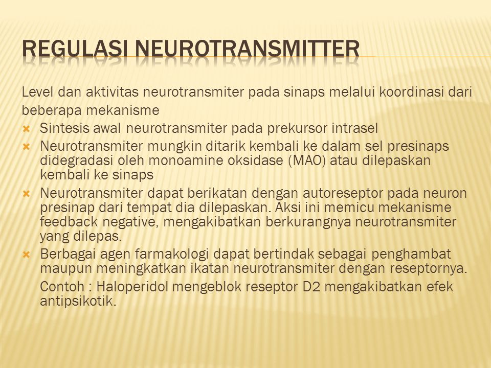 Regulasi Neurotransmitter