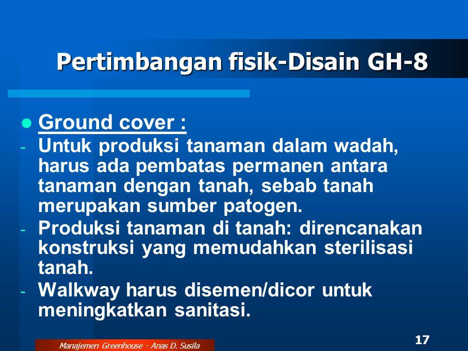 Pertimbangan fisik-Disain GH-8