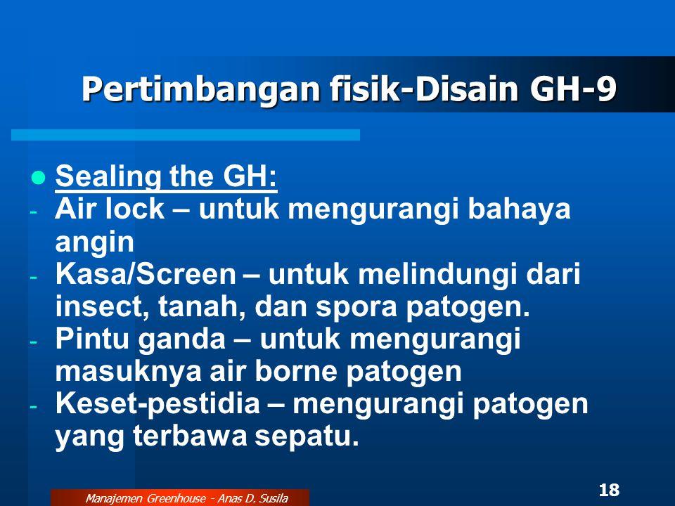 Pertimbangan fisik-Disain GH-9