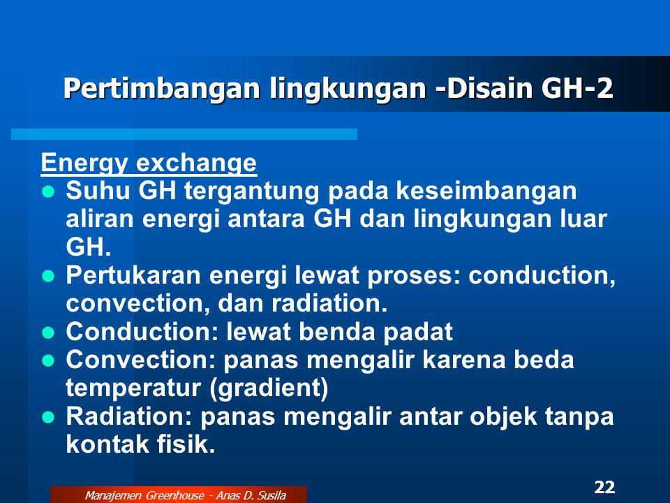Pertimbangan lingkungan -Disain GH-2