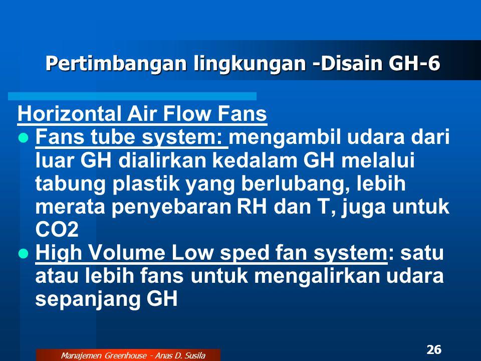 Pertimbangan lingkungan -Disain GH-6