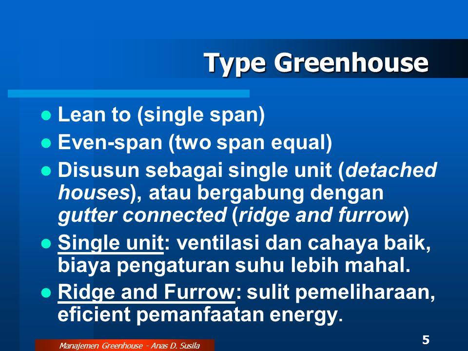 Manajemen Greenhouse - Anas D. Susila