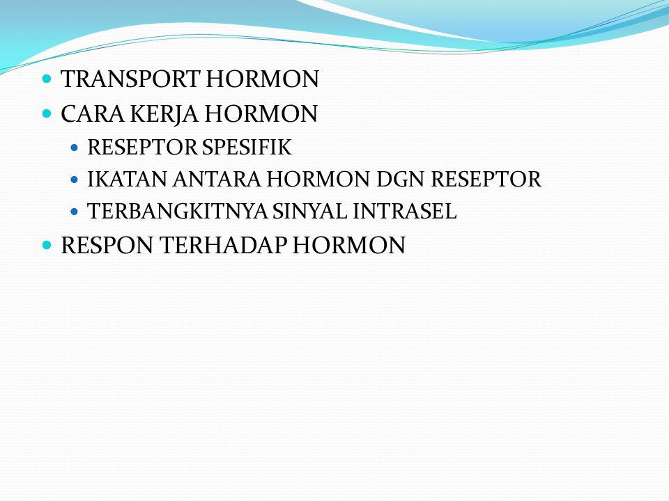 RESPON TERHADAP HORMON