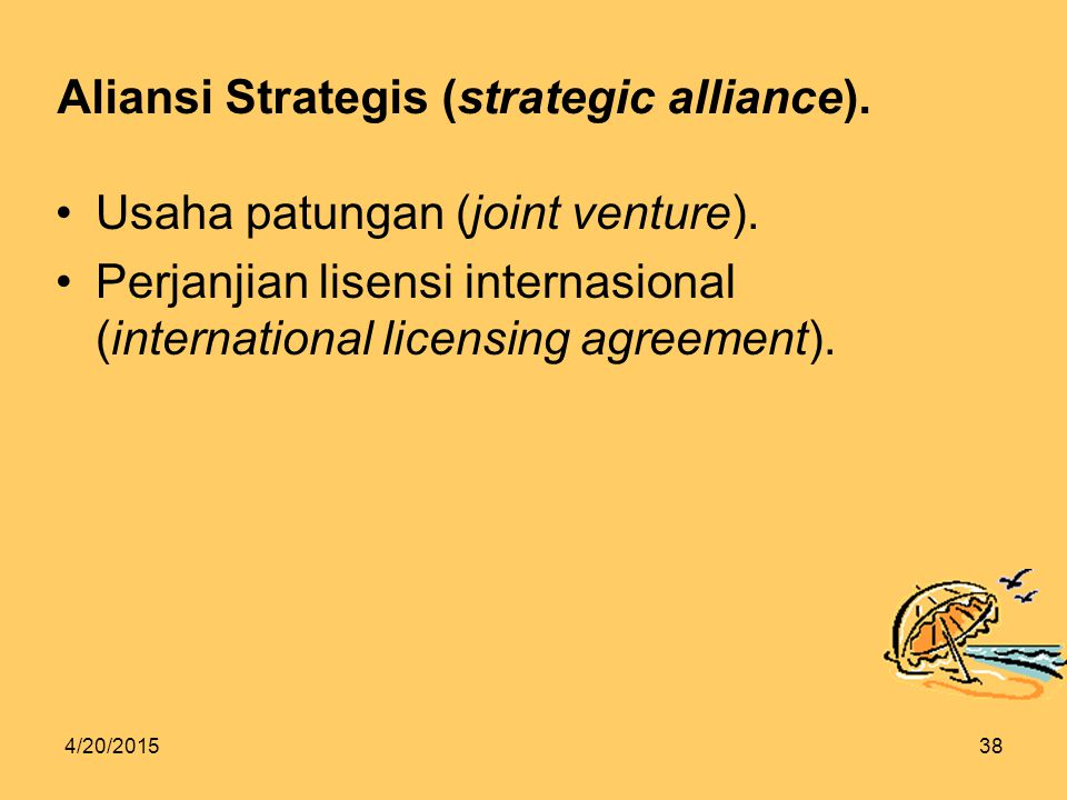 Aliansi Strategis (strategic alliance).