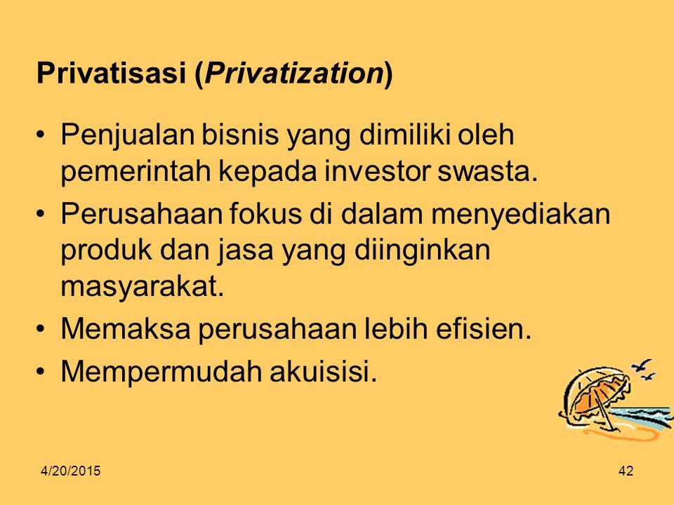 Privatisasi (Privatization)