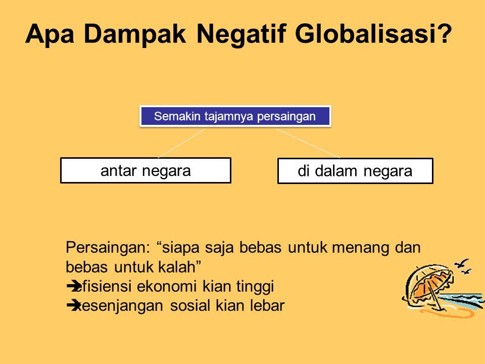 Apa Dampak Negatif Globalisasi