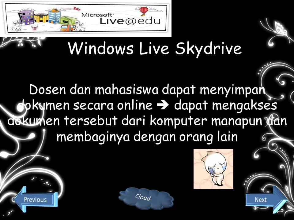 end Windows Live Skydrive.