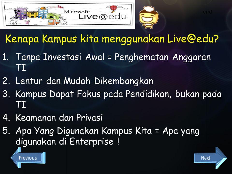 Kenapa Kampus kita menggunakan Live@edu