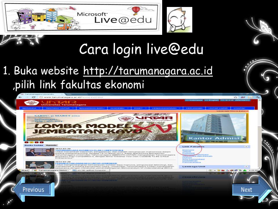 1. Buka website http://tarumanagara.ac.id