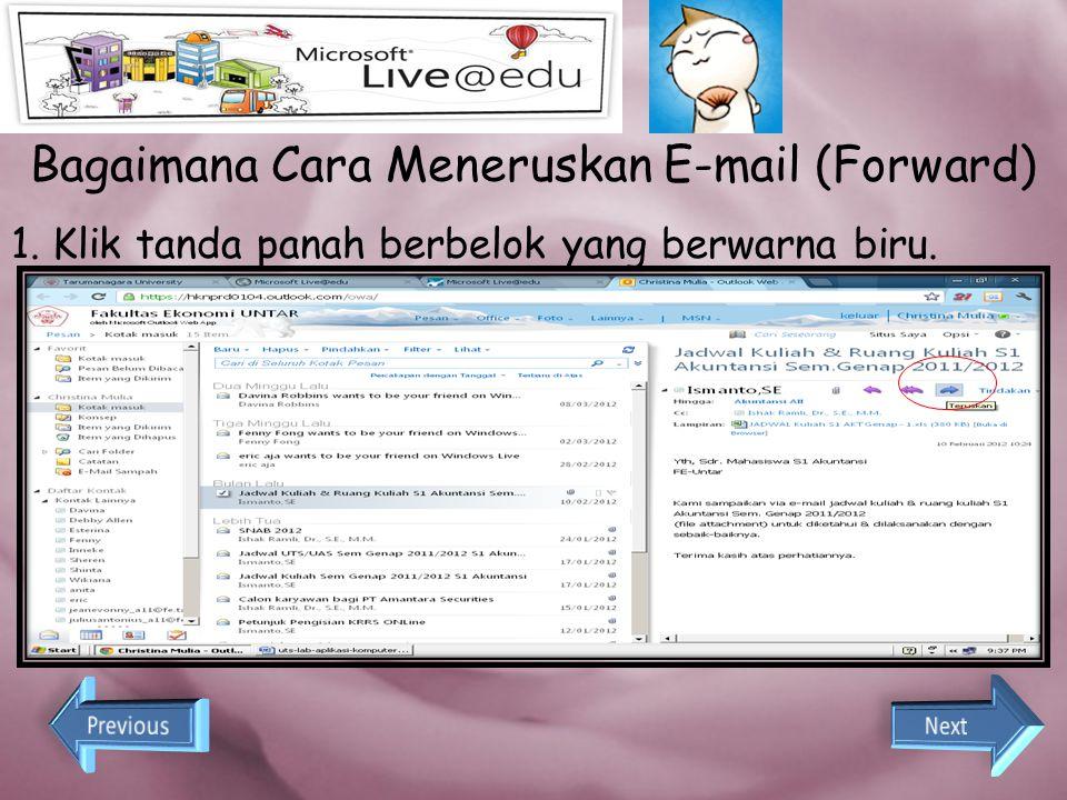 Bagaimana Cara Meneruskan E-mail (Forward)