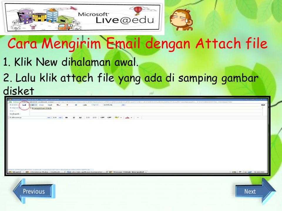 Cara Mengirim Email dengan Attach file