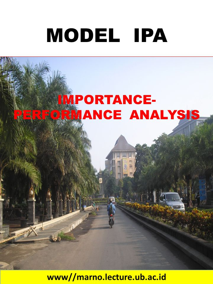 IMPORTANCE- PERFORMANCE ANALYSIS