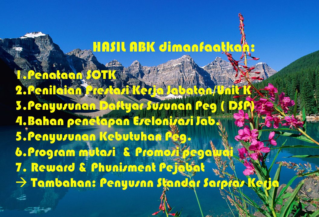 HASIL ABK dimanfaatkan: