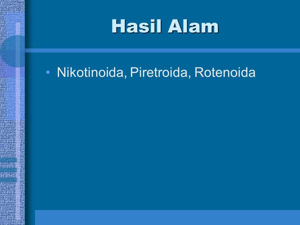 Hasil Alam Nikotinoida, Piretroida, Rotenoida