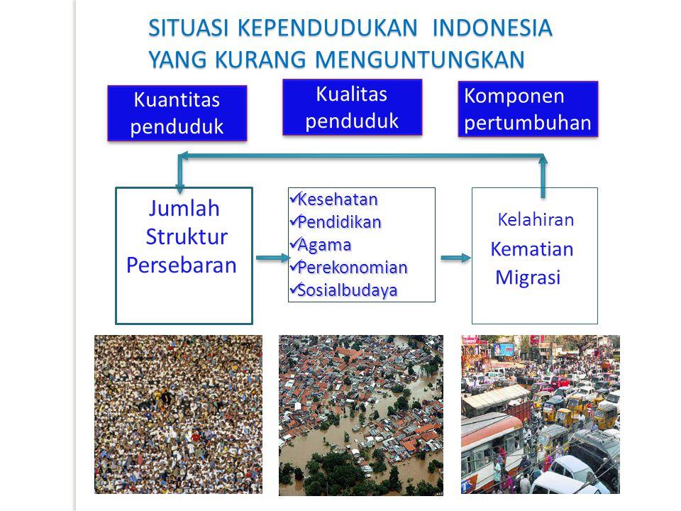 SITUASI KEPENDUDUKAN INDONESIA YANG KURANG MENGUNTUNGKAN