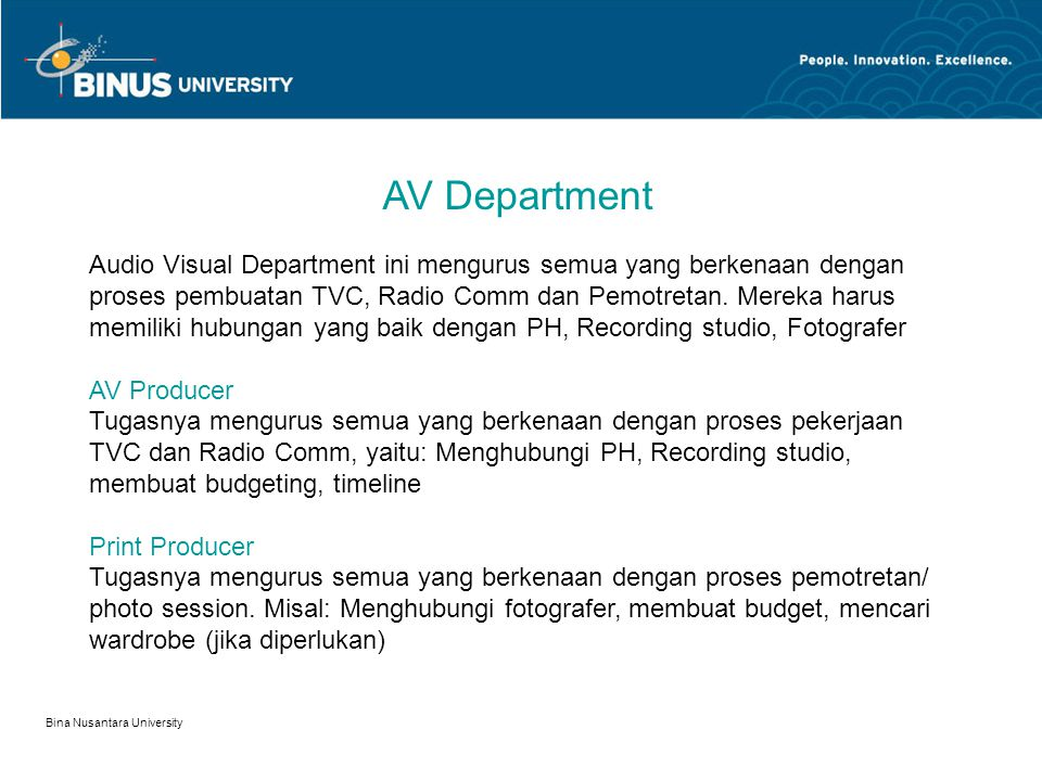 AV Department