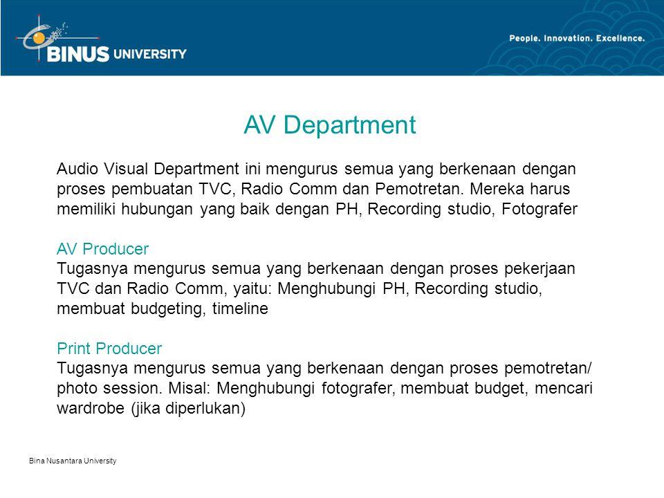 AV Department