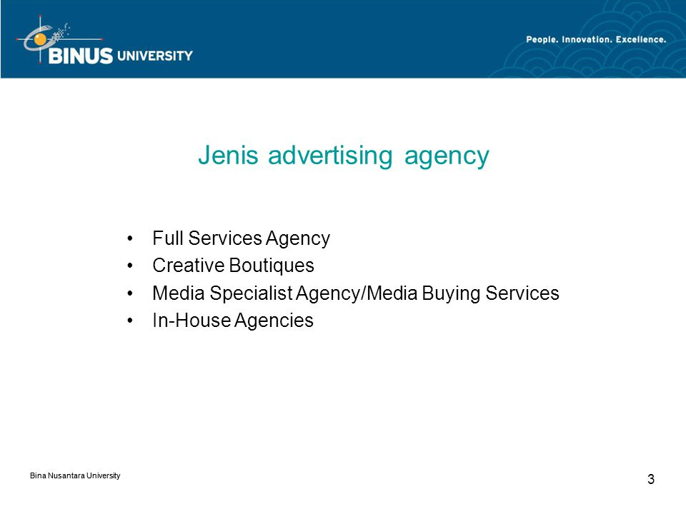 Jenis advertising agency