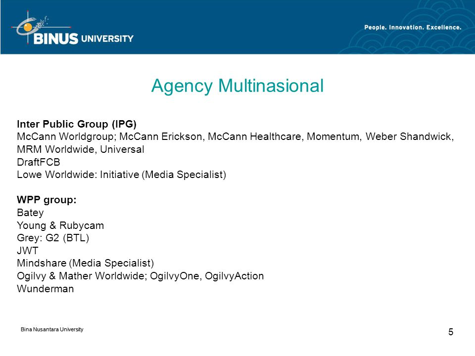 Agency Multinasional Inter Public Group (IPG)