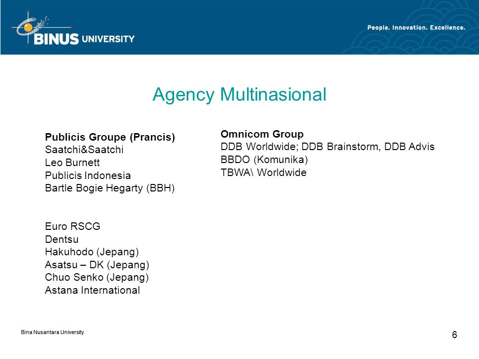 Agency Multinasional Omnicom Group Publicis Groupe (Prancis)